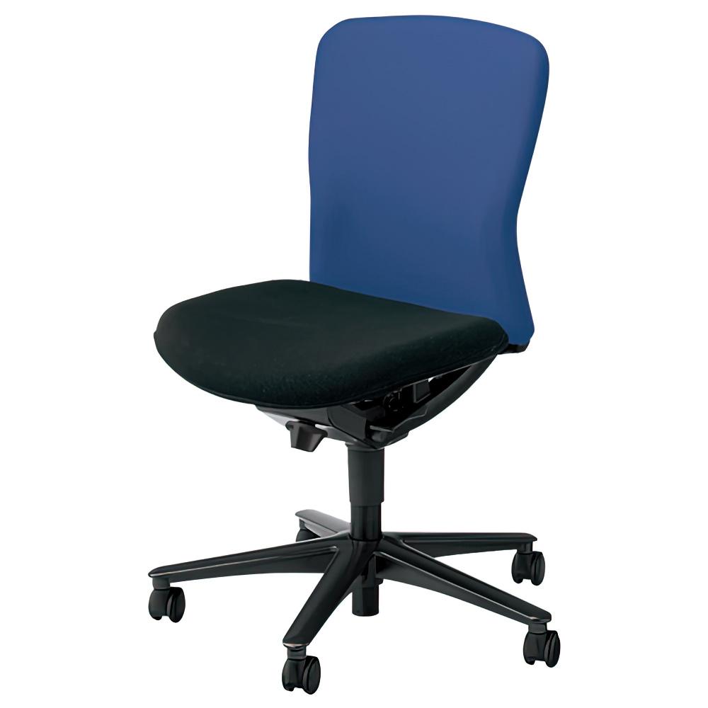 ルディオチェア W670×D536×H819-923mm オフィスチェア 事務椅子 肘無し クリアブルー デスクチェア OAチェア 内田洋行 オフィス家具