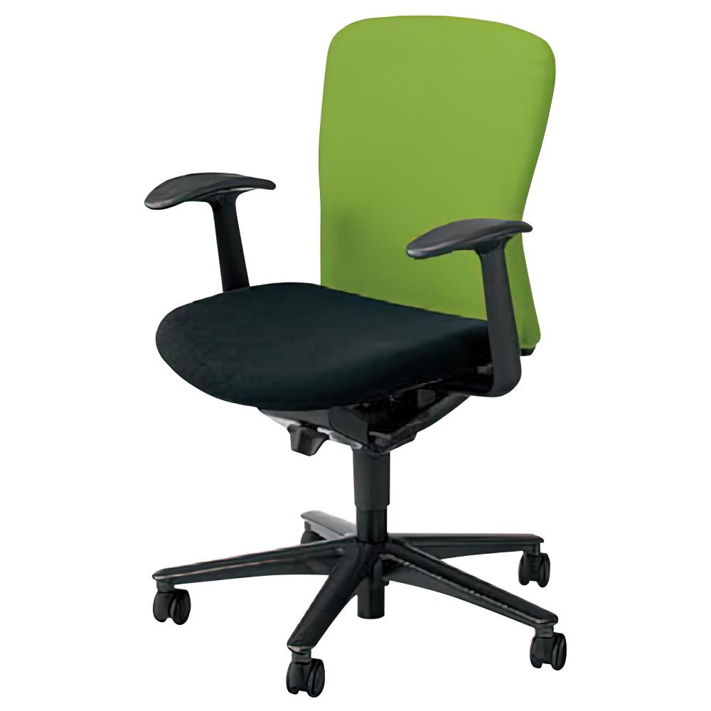 ルディオチェア W670×D536×H819-923mm オフィスチェア 事務椅子 肘付き クリアグリーン デスクチェア OAチェア 内田洋行 オフィス家具