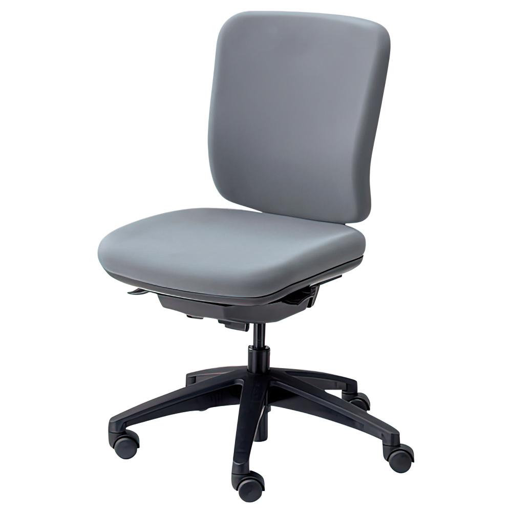 エムアイチェア W610×D550×H845-955mm オフィスチェア 事務椅子 肘無し グレイ デスクチェア OAチェア 内田洋行 オフィス家具