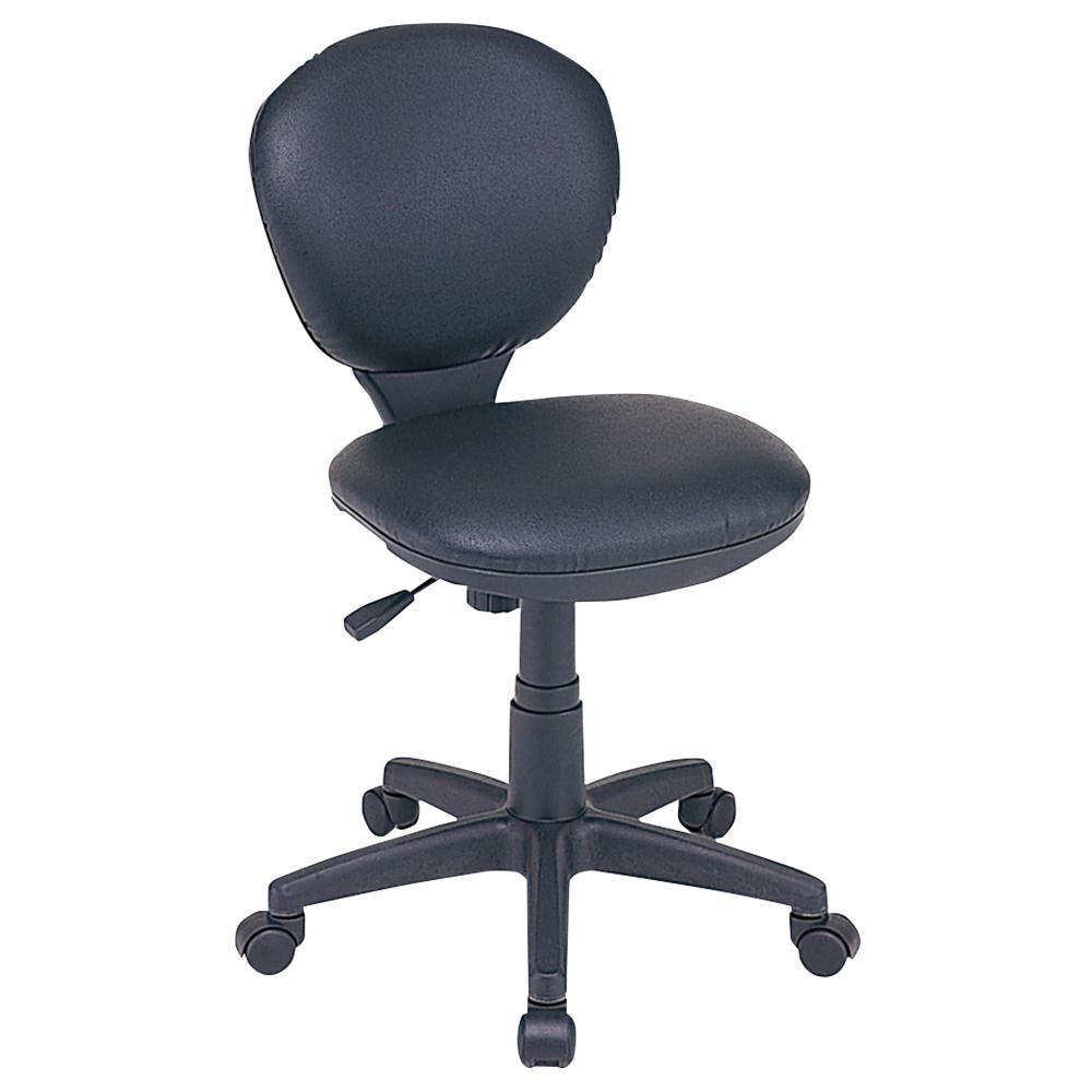オフィス用ビジネスチェアRZC W415 D540 H775-885  ブラック
