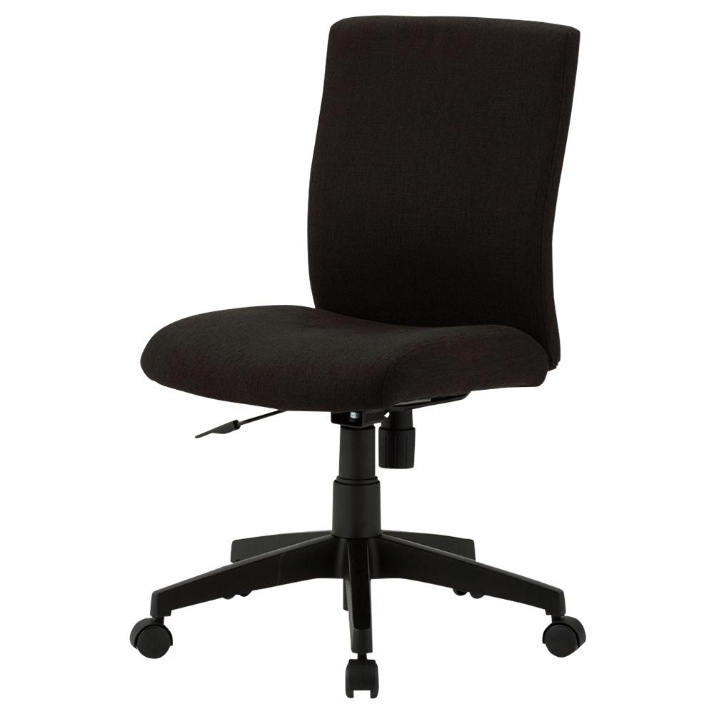 ファブリー 肘無し W415×D540×H775-885mm ブラック デスクチェア OAチェア オフィスチェア 事務椅子 オフィス家具
