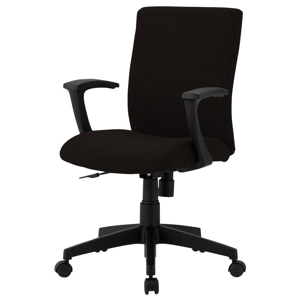 ファブリー 肘付き W585×D550×H880-970mm ブラック デスクチェア OAチェア オフィスチェア 事務椅子 オフィス家具