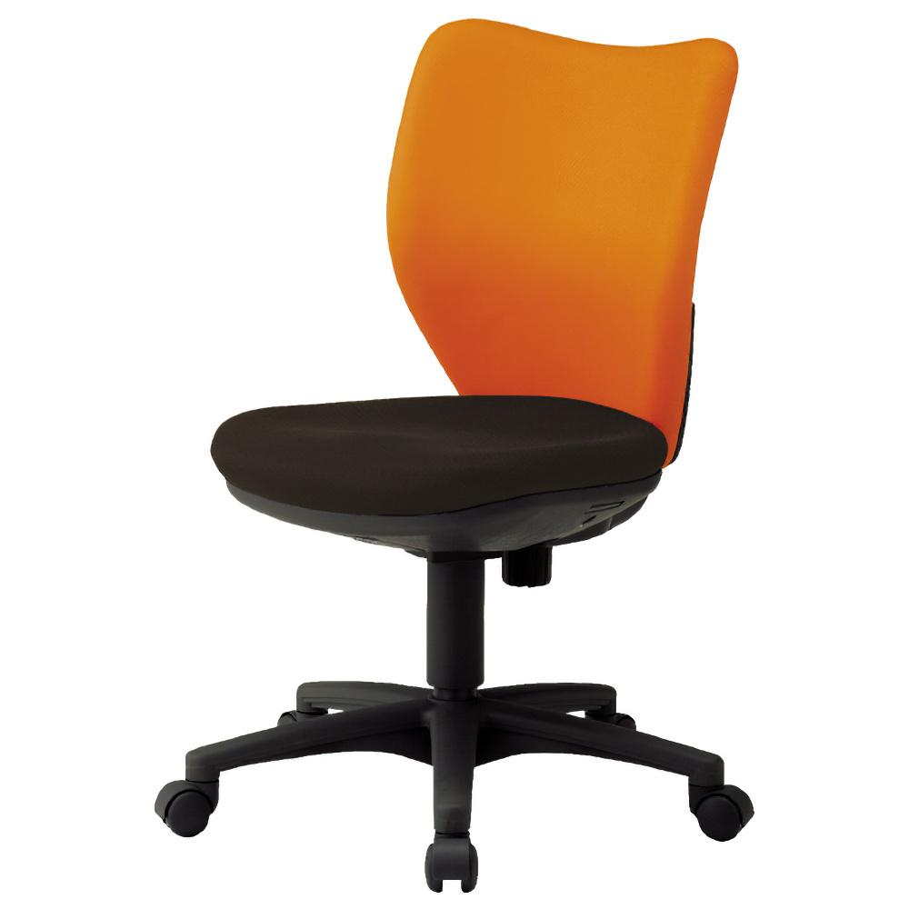 ニューオフィット W450×D560×H830-930mm 肘無し オレンジ オフィスチェア 事務椅子 デスクチェア OAチェア オフィス家具