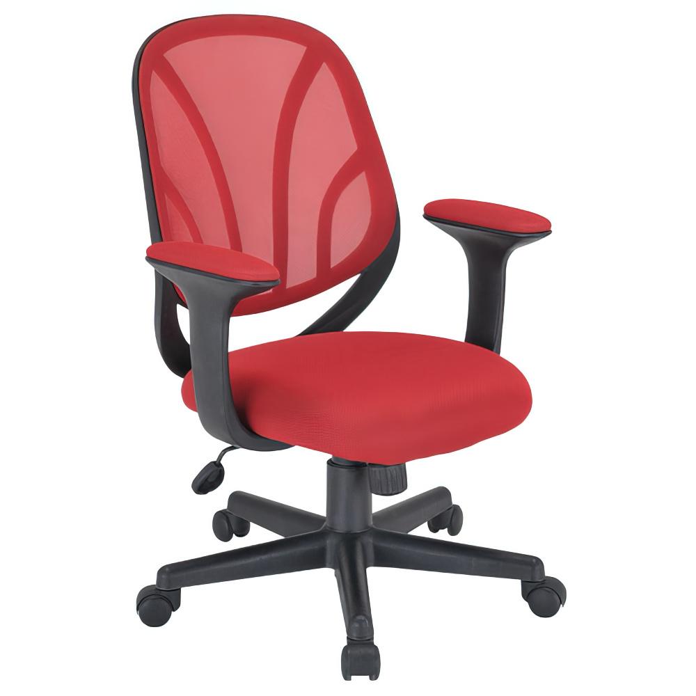 オルテ W590×D570×H830-900mm オフィスチェア 事務椅子 レッド デスクチェア OAチェア オフィス家具