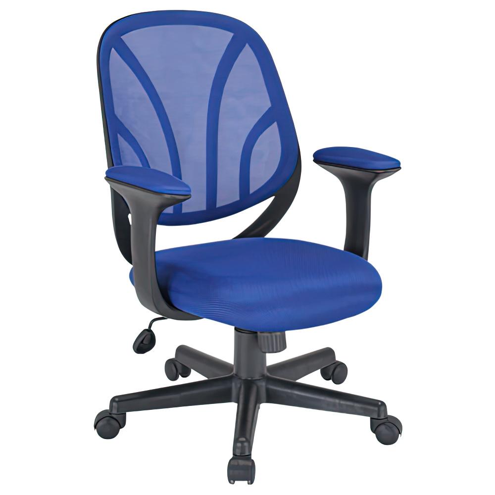 オルテ W590×D570×H830-900mm オフィスチェア 事務椅子 ブルー デスクチェア OAチェア オフィス家具