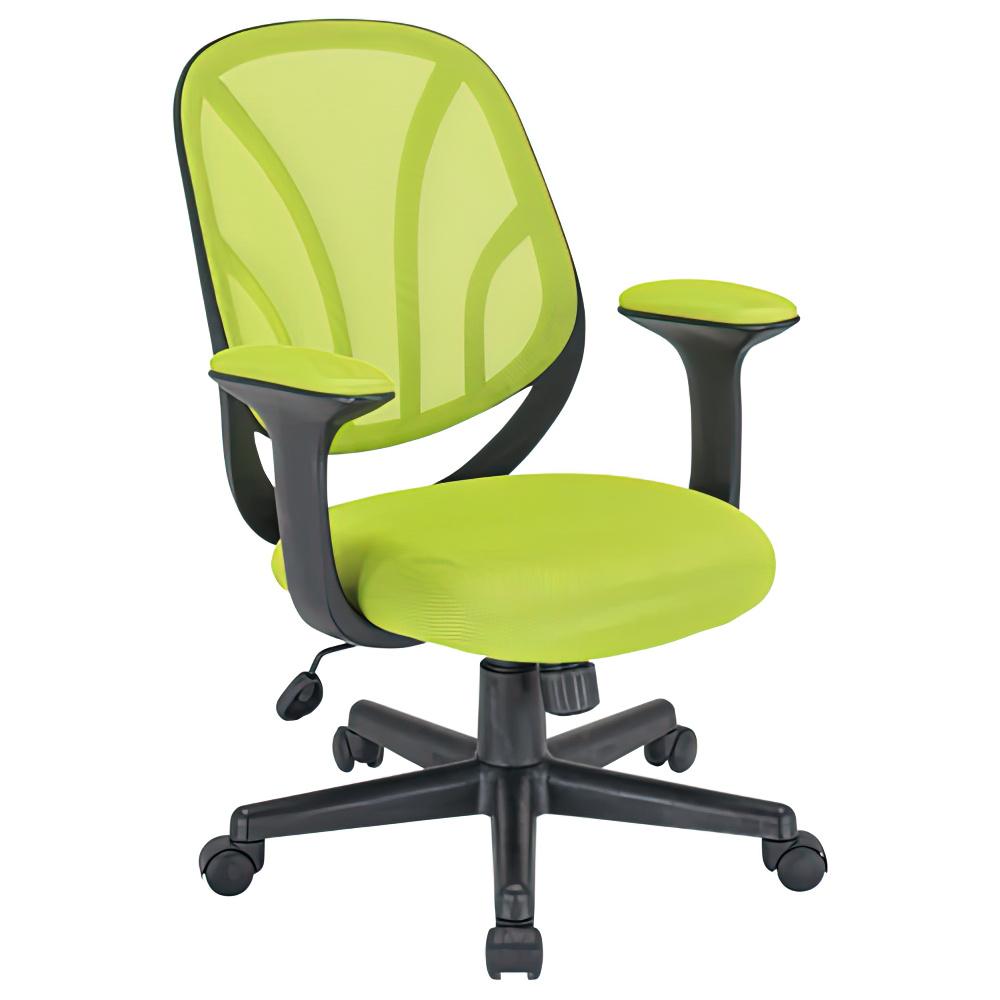 オルテ W590×D570×H830-900mm オフィスチェア 事務椅子 イエローグリーン デスクチェア OAチェア オフィス家具