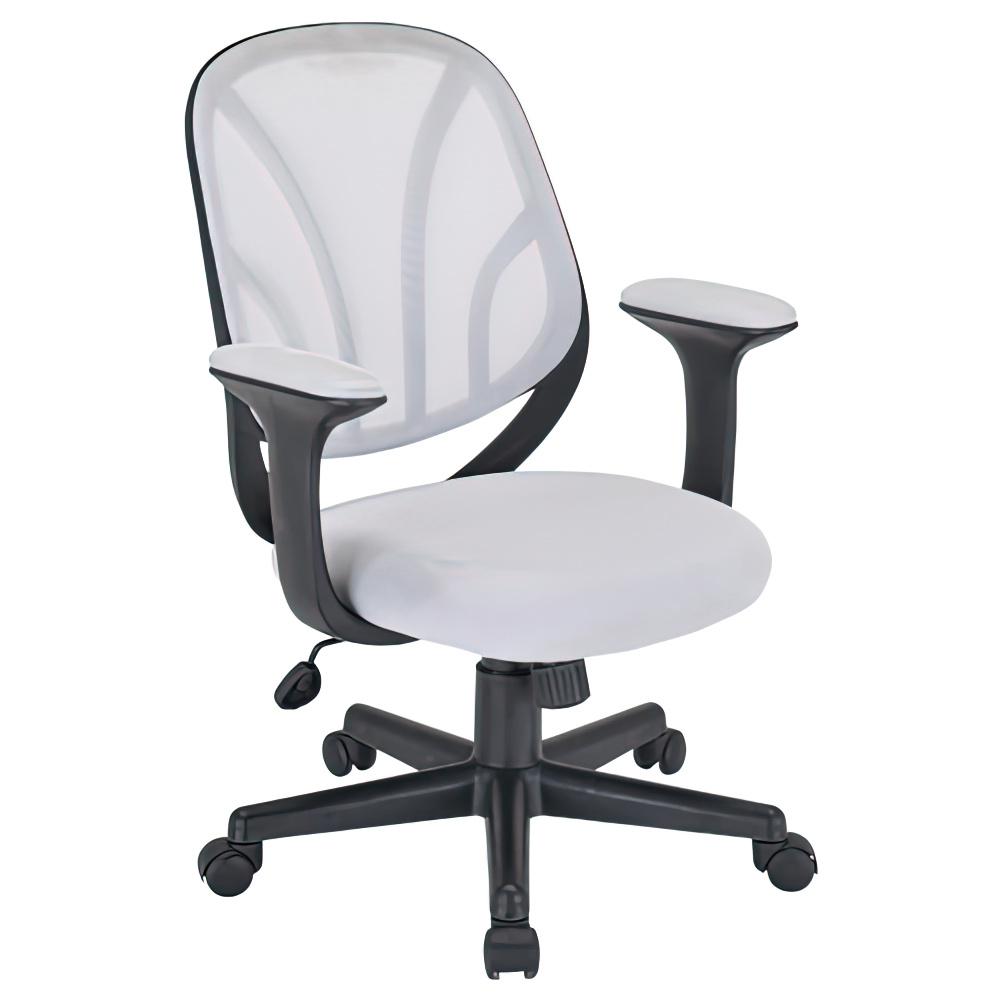 オルテ W590×D570×H830-900mm オフィスチェア 事務椅子 ホワイト デスクチェア OAチェア オフィス家具