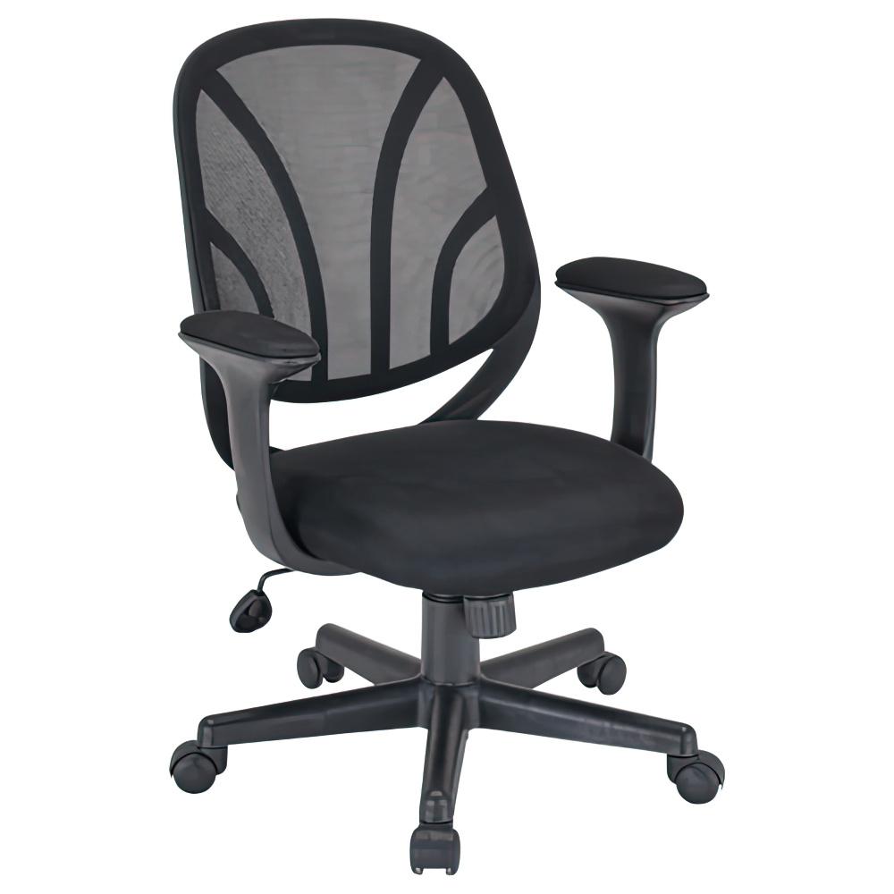 オルテ W590×D570×H830-900mm オフィスチェア 事務椅子 ブラック デスクチェア OAチェア オフィス家具