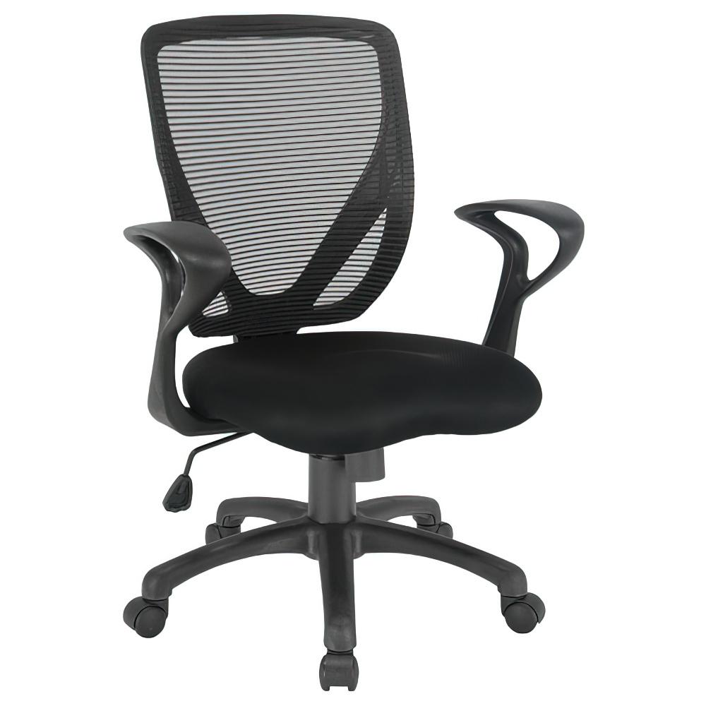 ペアリー W630×D520×H870-945mm オフィスチェア 事務椅子 肘付き ブラック デスクチェア OAチェア オフィス家具