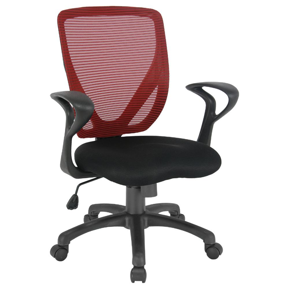 ペアリー W630×D520×H870-945mm オフィスチェア 事務椅子 肘付き ワインレッド デスクチェア OAチェア オフィス家具