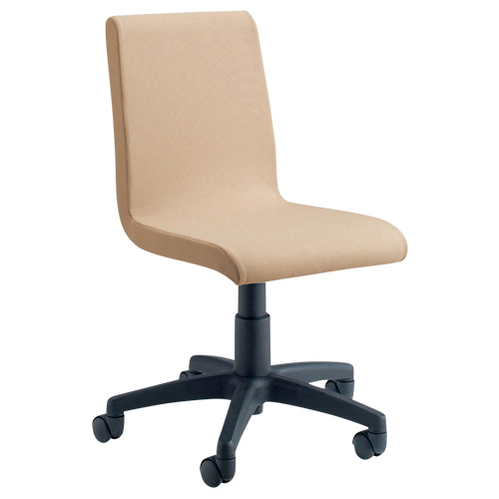 ピック W540×D570×H780-890mm デスクチェア ファブリックチェア ベージュ オフィスチェア 事務椅子 OAチェア オフィス家具