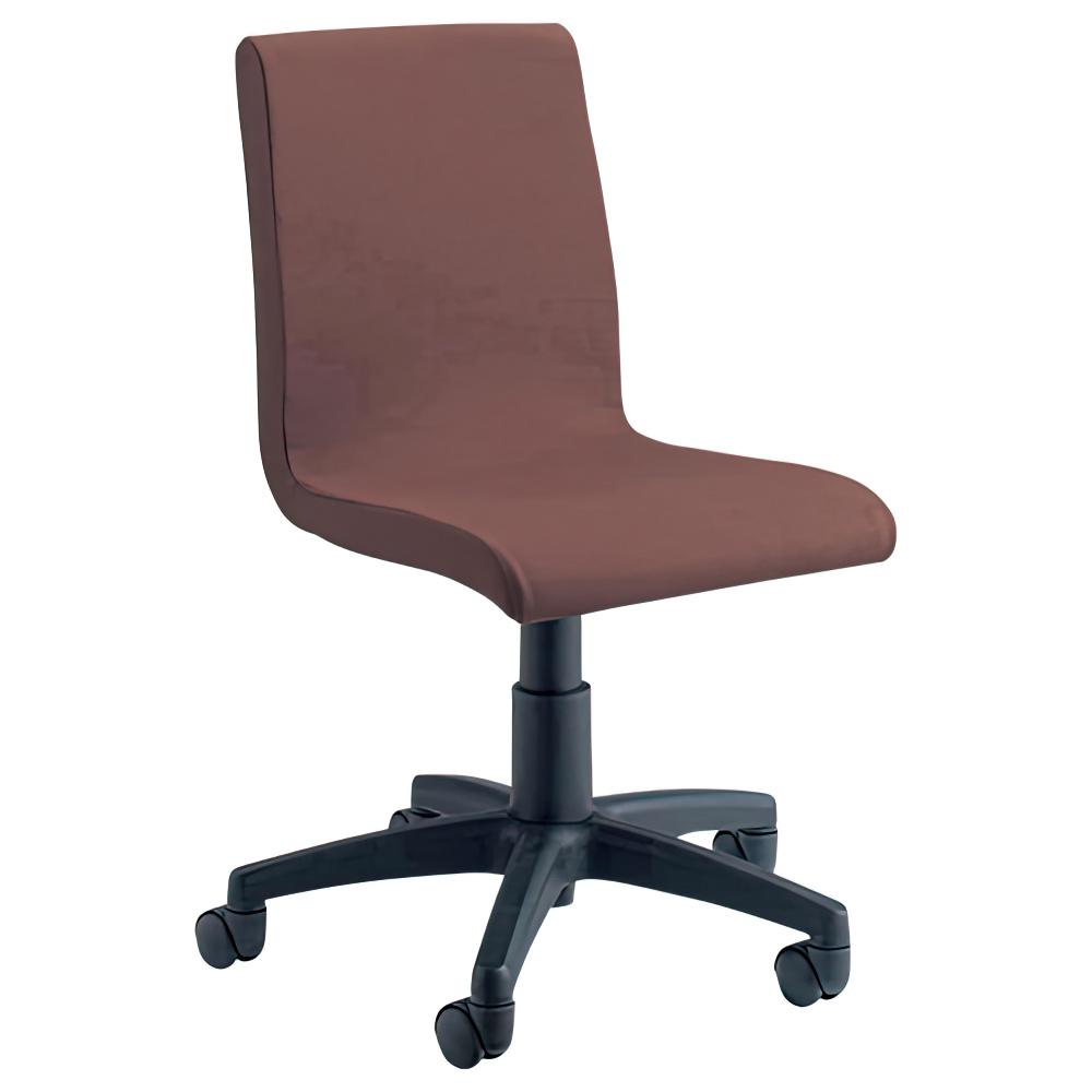 ピック W540×D570×H780-890mm デスクチェア ファブリックチェア ブラウン オフィスチェア 事務椅子 OAチェア オフィス家具
