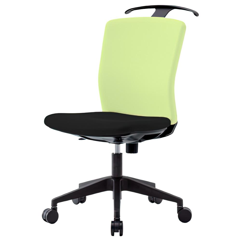 リプリート W460×D730×H910-1000mm ハンガー付き 肘無し ライムグリーン オフィスチェア 事務椅子 デスクチェア OAチェア オフィス家具