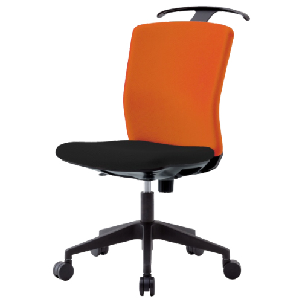 リプリート W460×D730×H910-1000mm ハンガー付き 肘無し オレンジ オフィスチェア 事務椅子 デスクチェア OAチェア オフィス家具
