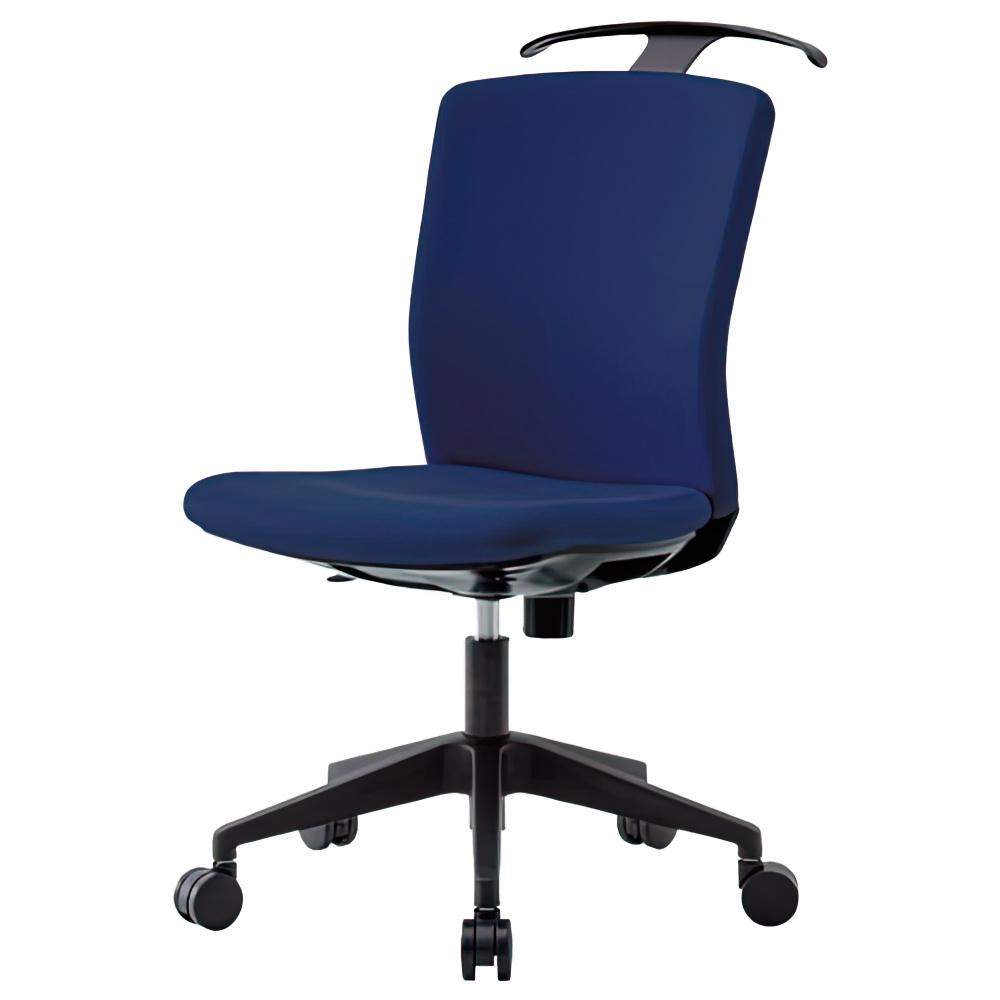 リプリート W460×D730×H910-1000mm ハンガー付き 肘無し ネイビー オフィスチェア 事務椅子 デスクチェア OAチェア オフィス家具