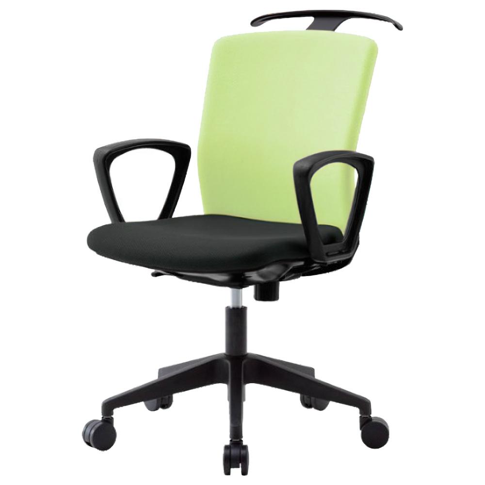 オフィス用ビジネスチェアRRT W592 D730 H910-1000  イエローグリーン