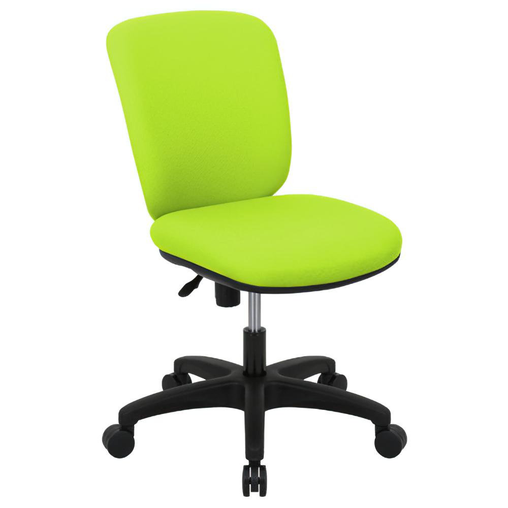 シャーク 撥水ファブリックタイプ W470×D460×H815-920mm オフィスチェア 事務椅子 肘無し グリーン デスクチェア OAチェア オフィス家具