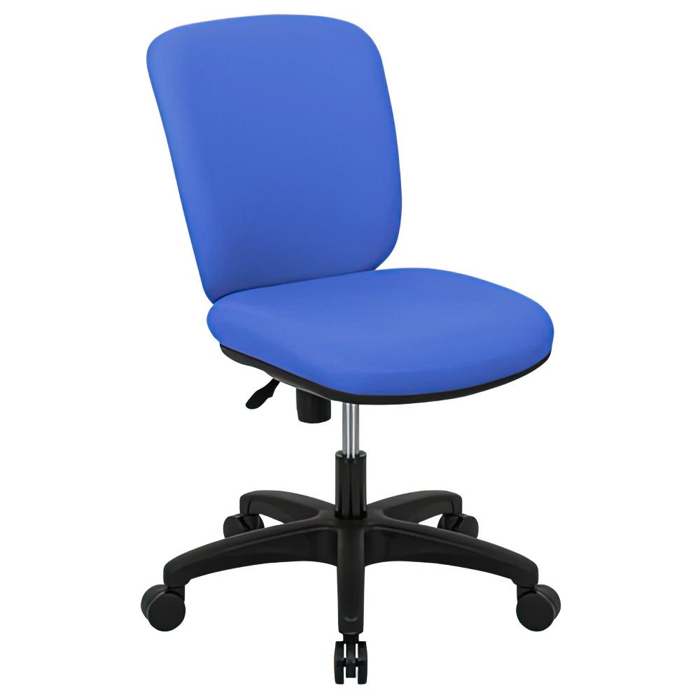 シャーク 撥水ファブリックタイプ W470×D460×H815-920mm オフィスチェア 事務椅子 肘無しブルー デスクチェア OAチェア オフィス家具