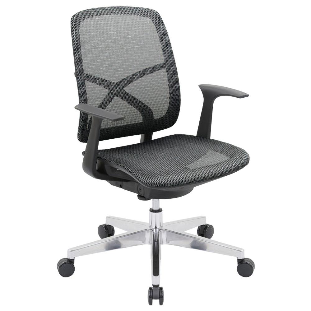 シンクスII W660×D650×H885-975mm オフィスチェア 事務椅子 肘付き ブラック デスクチェア OAチェア メッシュチェア オフィス家具
