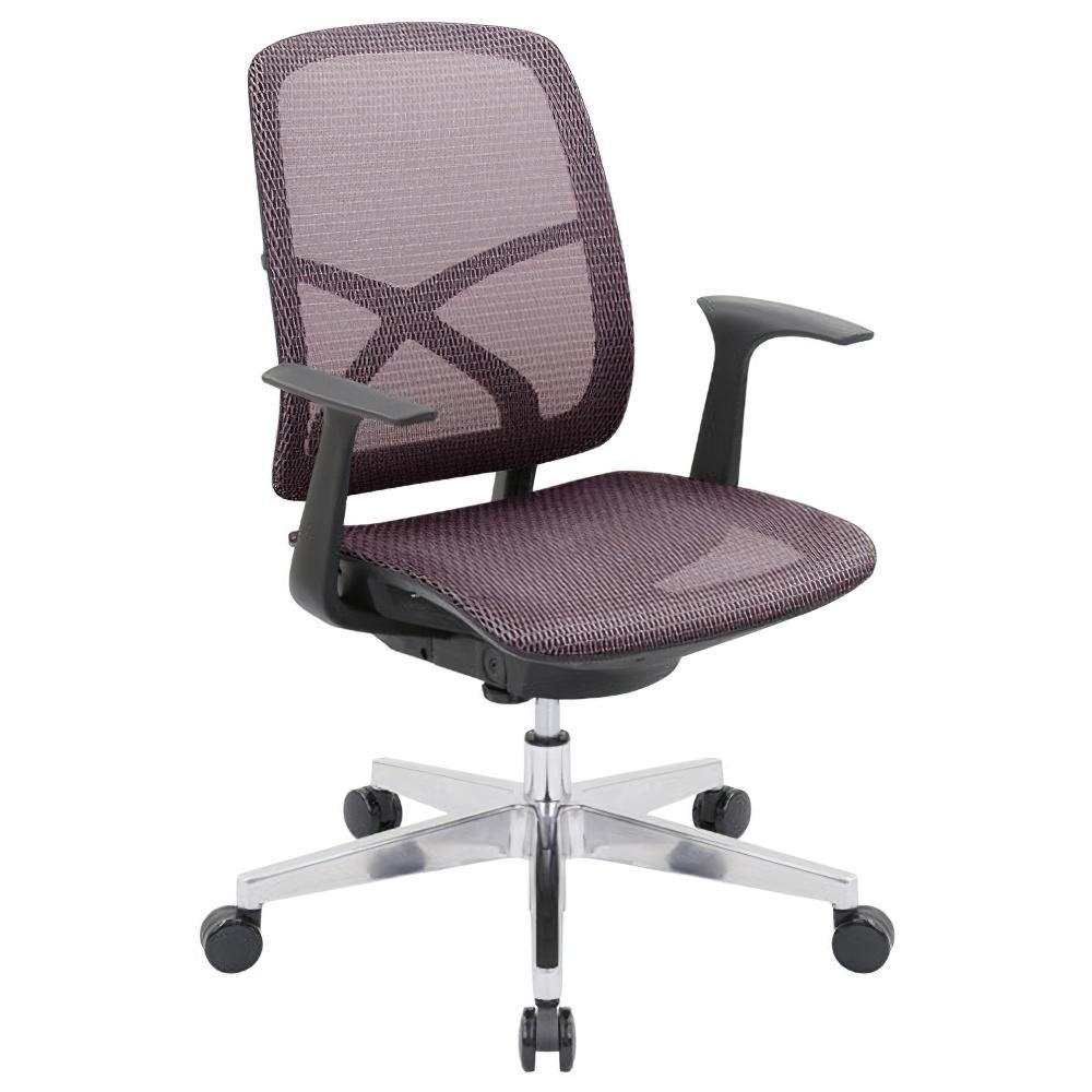 シンクスII W660×D650×H885-975mm オフィスチェア 事務椅子 肘付き レッド デスクチェア OAチェア メッシュチェア オフィス家具