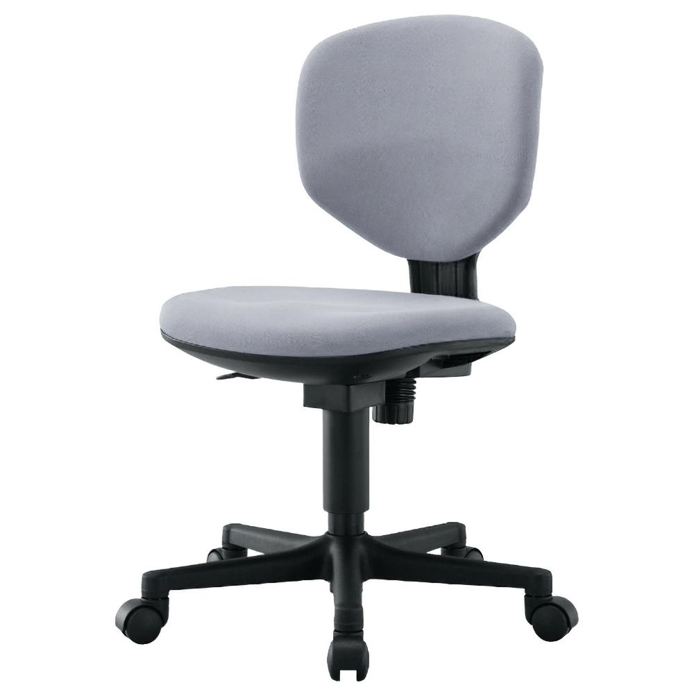 ショートフィット W430×D520×H805-905mm 肘無し グレー オフィスチェア 事務椅子 コンパクトデスクチェア OAチェア オフィス家具