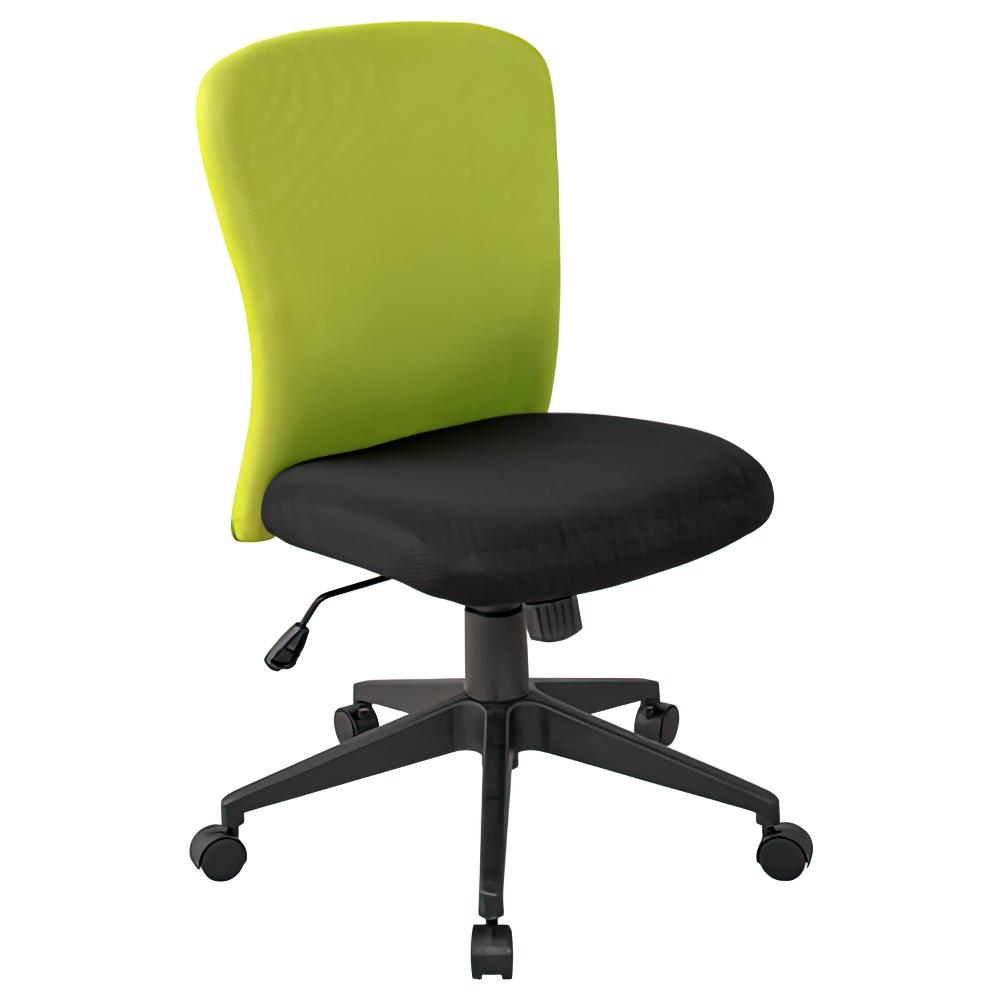 シャトルチェア W475×D520×H920-1020mm オフィスチェア 事務椅子 肘無し イエローグリーン デスクチェア OAチェア オフィス家具