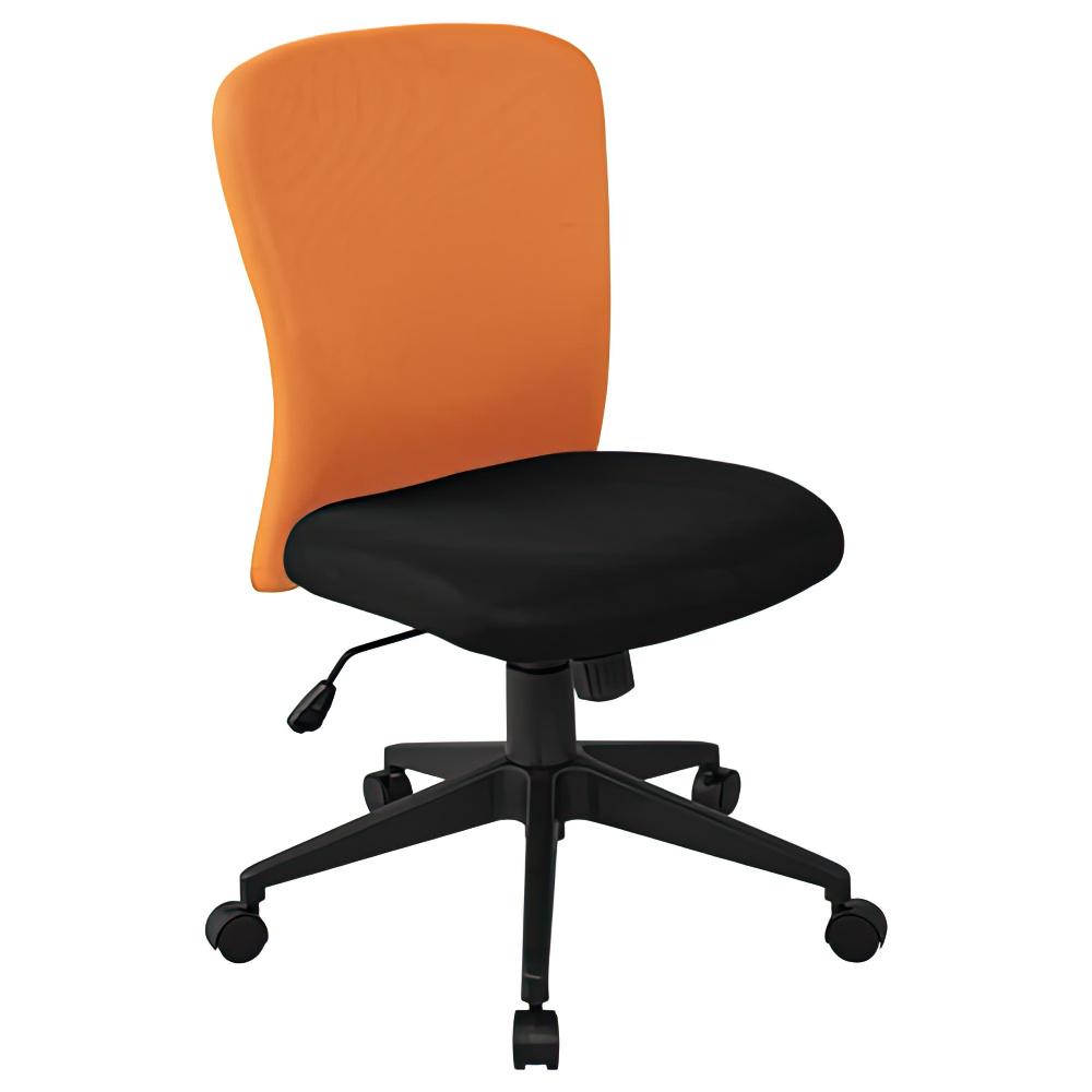 シャトルチェア W475×D520×H920-1020mm オフィスチェア 事務椅子 肘無し ブルー デスクチェア OAチェア オフィス家具