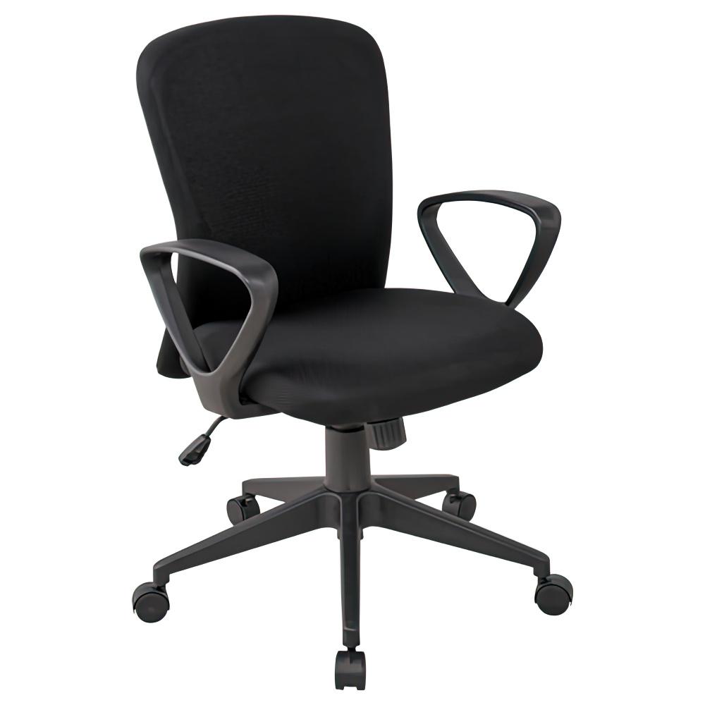 シャトルチェア W575×D520×H920-1020mm オフィスチェア 事務椅子 肘付き イエローグリーン デスクチェア OAチェア オフィス家具