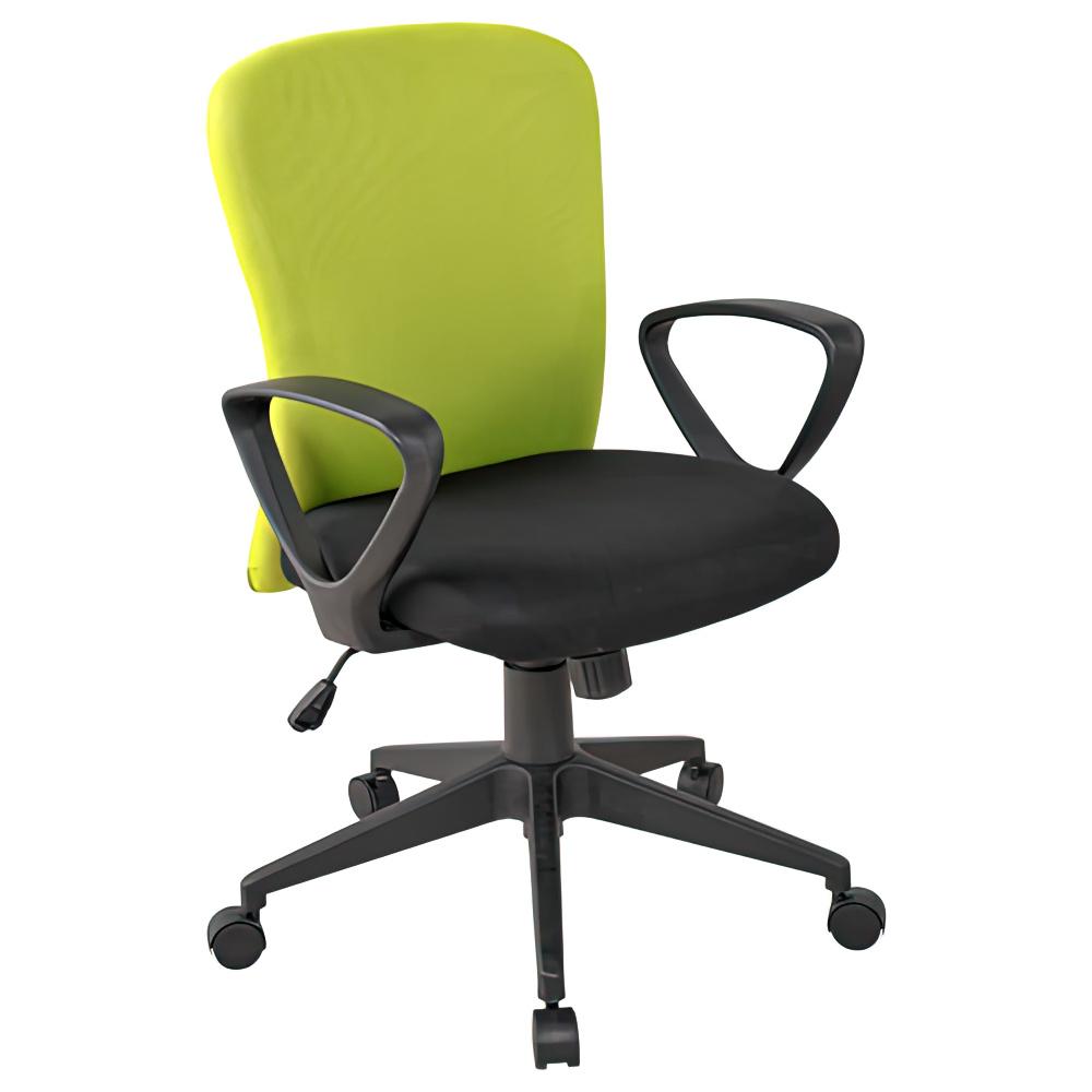 シャトルチェア W575×D520×H920-1020mm オフィスチェア 事務椅子 肘付き ブルー デスクチェア OAチェア オフィス家具