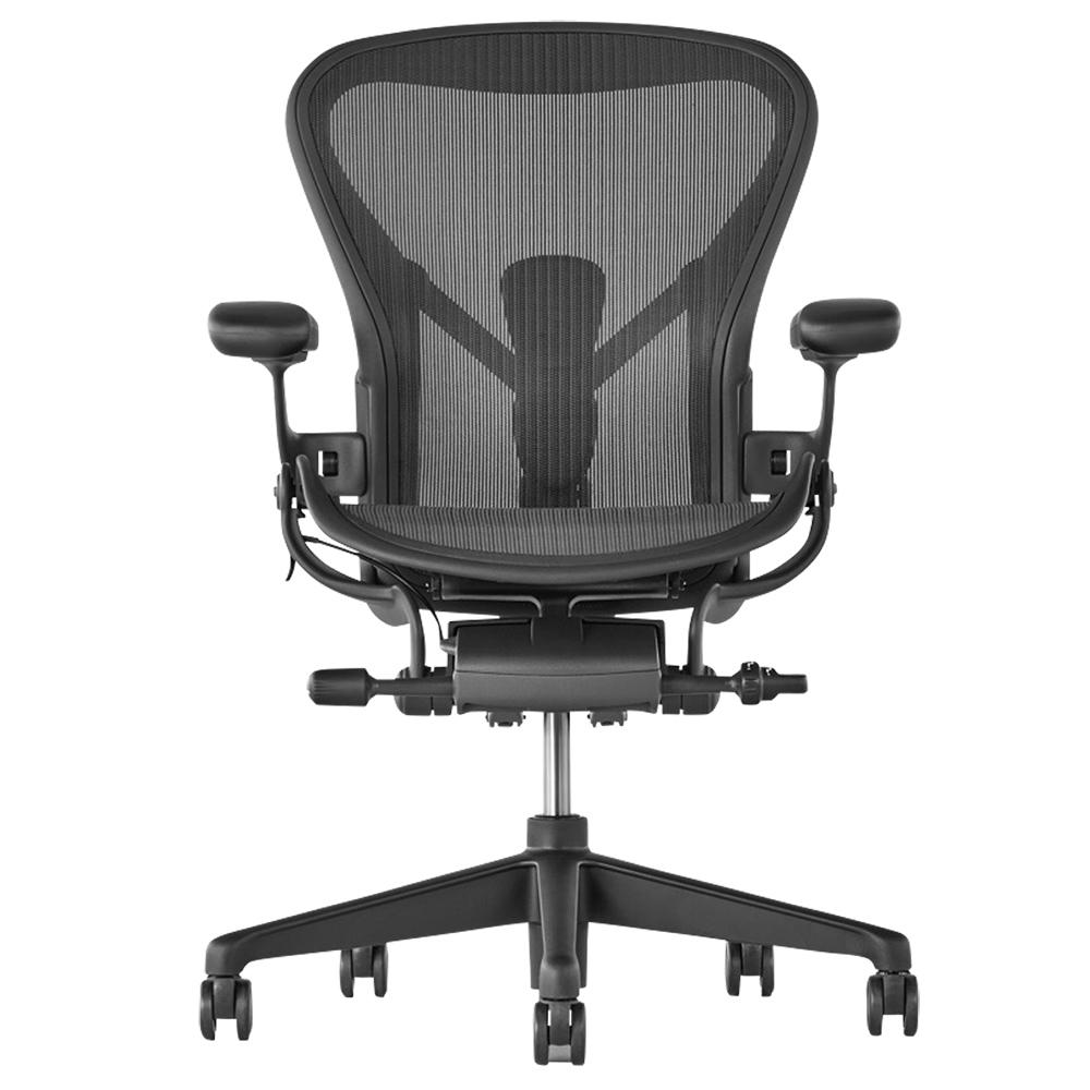 オフィス用アーロンチェア リマスタード グラファイトベース W685 D675 H930-1045  ブラック