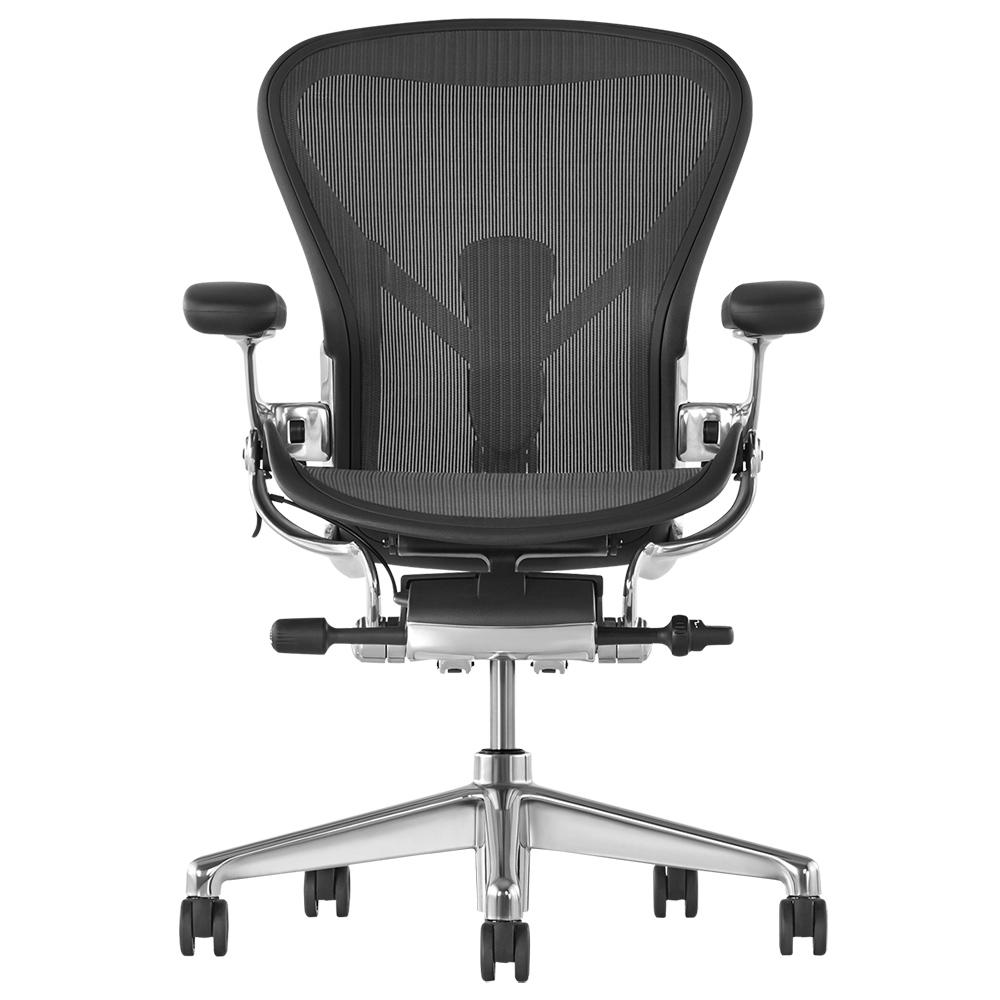 アーロンチェア リマスタード ポリッシュドアルミニウムベース W685×D675×H930-1045mm 高機能ブランドチェア オフィスチェア オフィス家具
