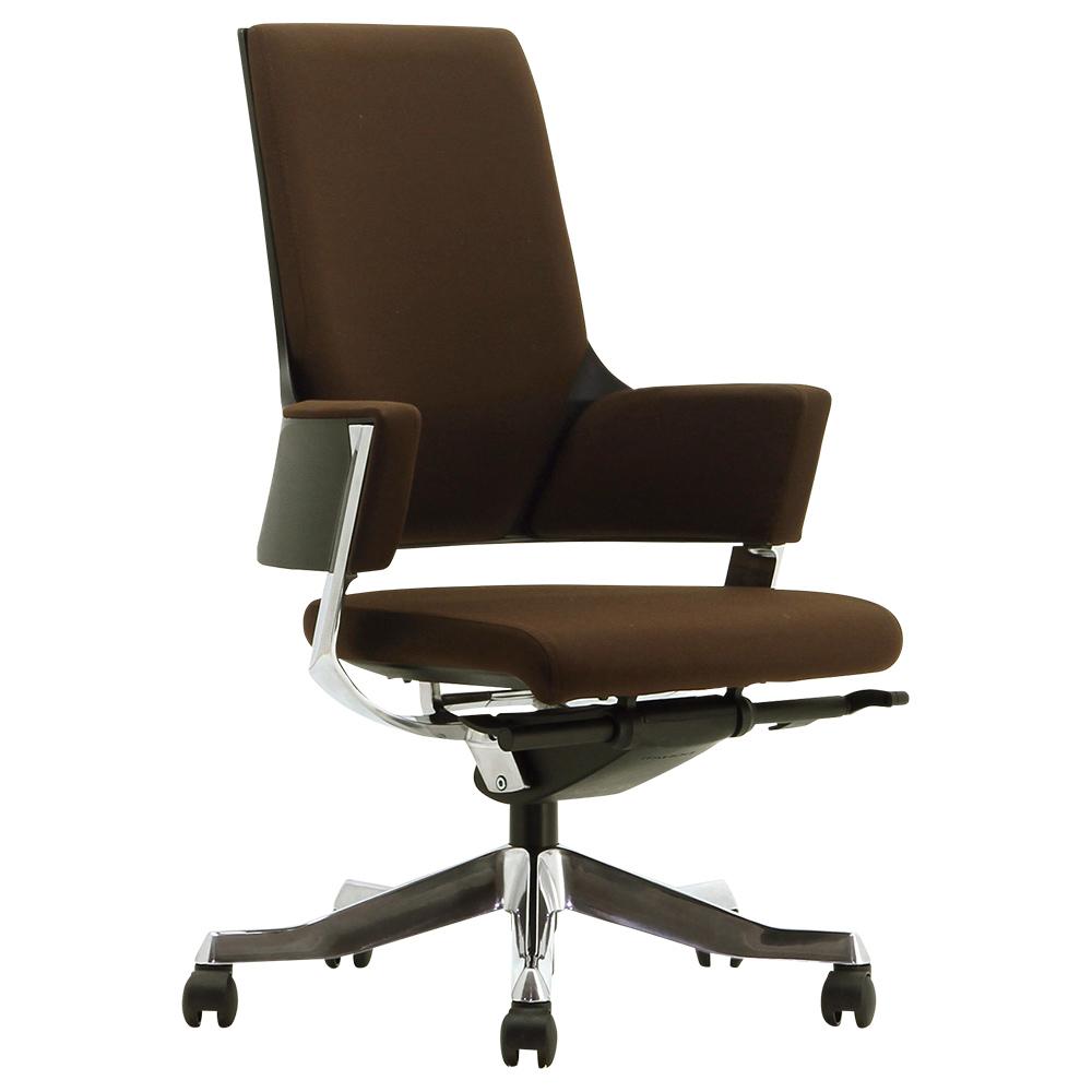 オフィス用デルフィ ミドルバック W635 D635 H975-1075  ライトブラウン