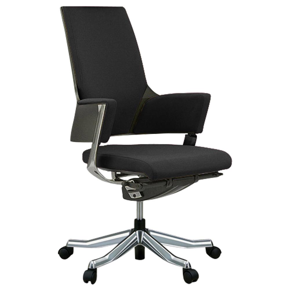 デルフィ ミドルバック W600×D700×H940-1020mm 高機能ブランドチェア ブラック メリーフェア MERRYFAIR オフィス家具