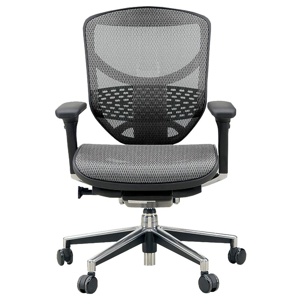 エンジョイ ロータイプ W655×D660×H960-1110mm エルゴノミクスチェア メッシュ:グレー オフィス家具