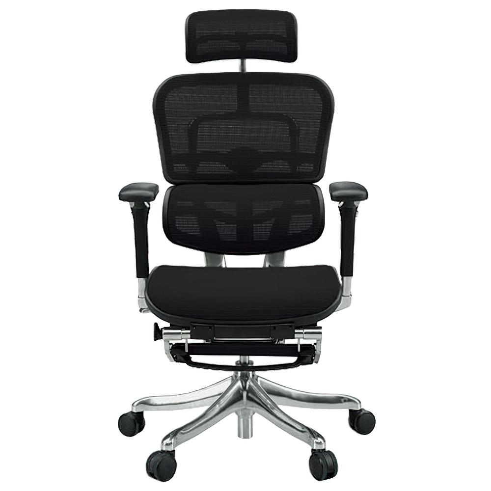 エルゴヒューマン プロ オットマン W665×D665×H1110-1250mm エルゴノミクスチェア ファブリック:ブラック オフィス家具