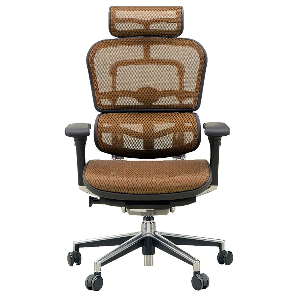 エルゴヒューマン ベーシック ハイタイプ W665×D665×H1110-1250mm エルゴノミクスチェア メッシュ:オレンジ オフィス家具