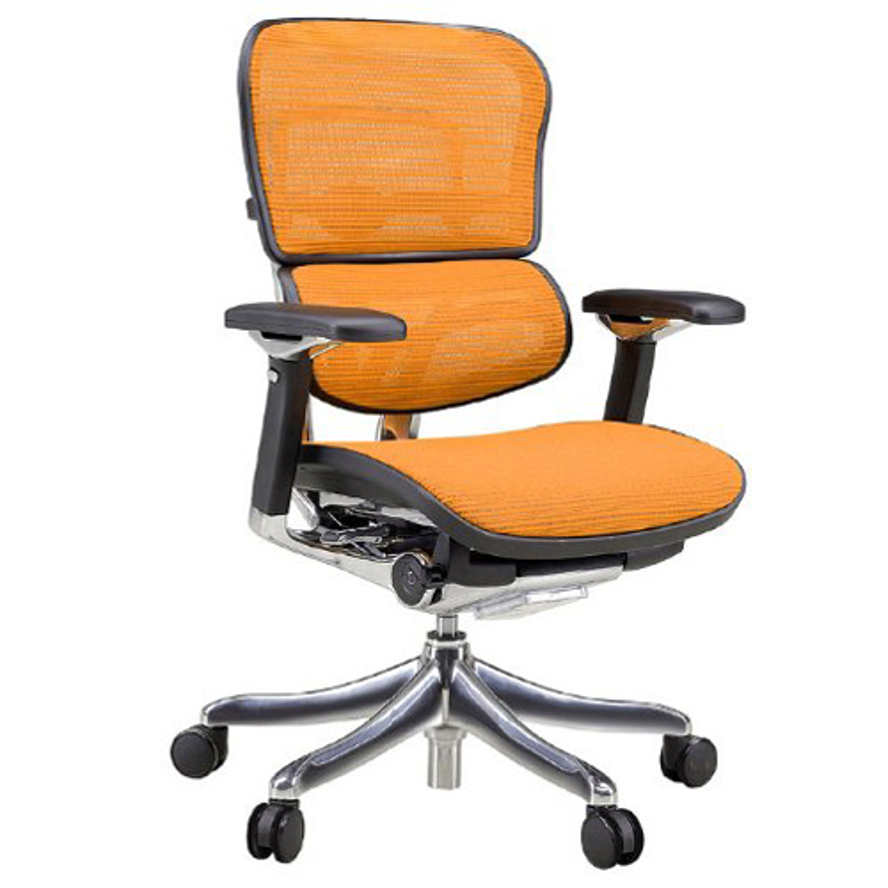 エルゴヒューマン プロ ロータイプ W665×D665×H1005-1145mm エルゴノミクスチェア ファブリック:オレンジ オフィス家具