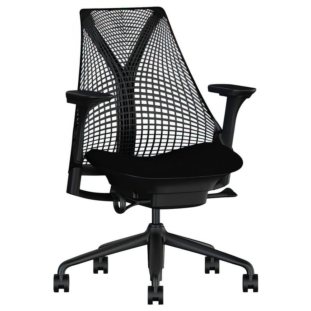 セイルチェア ブラック W675×D600×H910-1055mm 高機能ブランドチェア ハーマンミラー HermanMiller オフィス家具