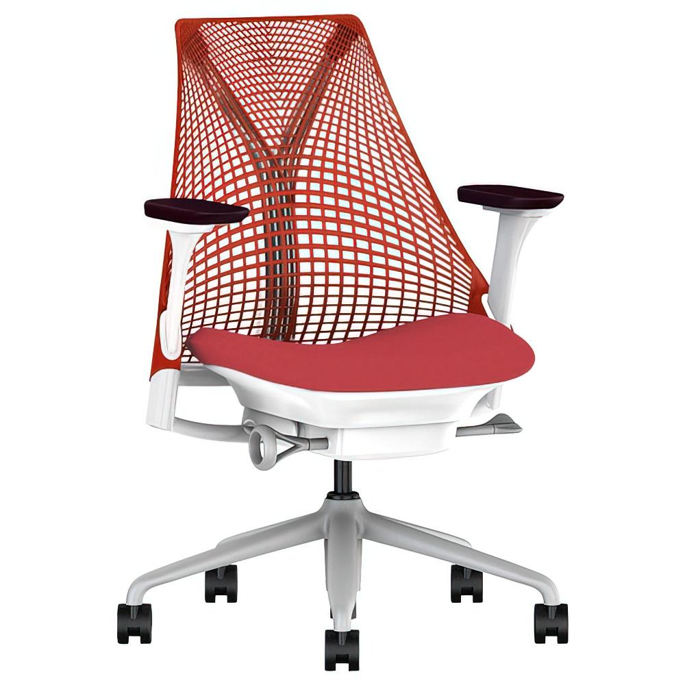 セイルチェア レッド W675×D600×H910-1055mm 高機能ブランドチェア ハーマンミラー HermanMiller オフィス家具