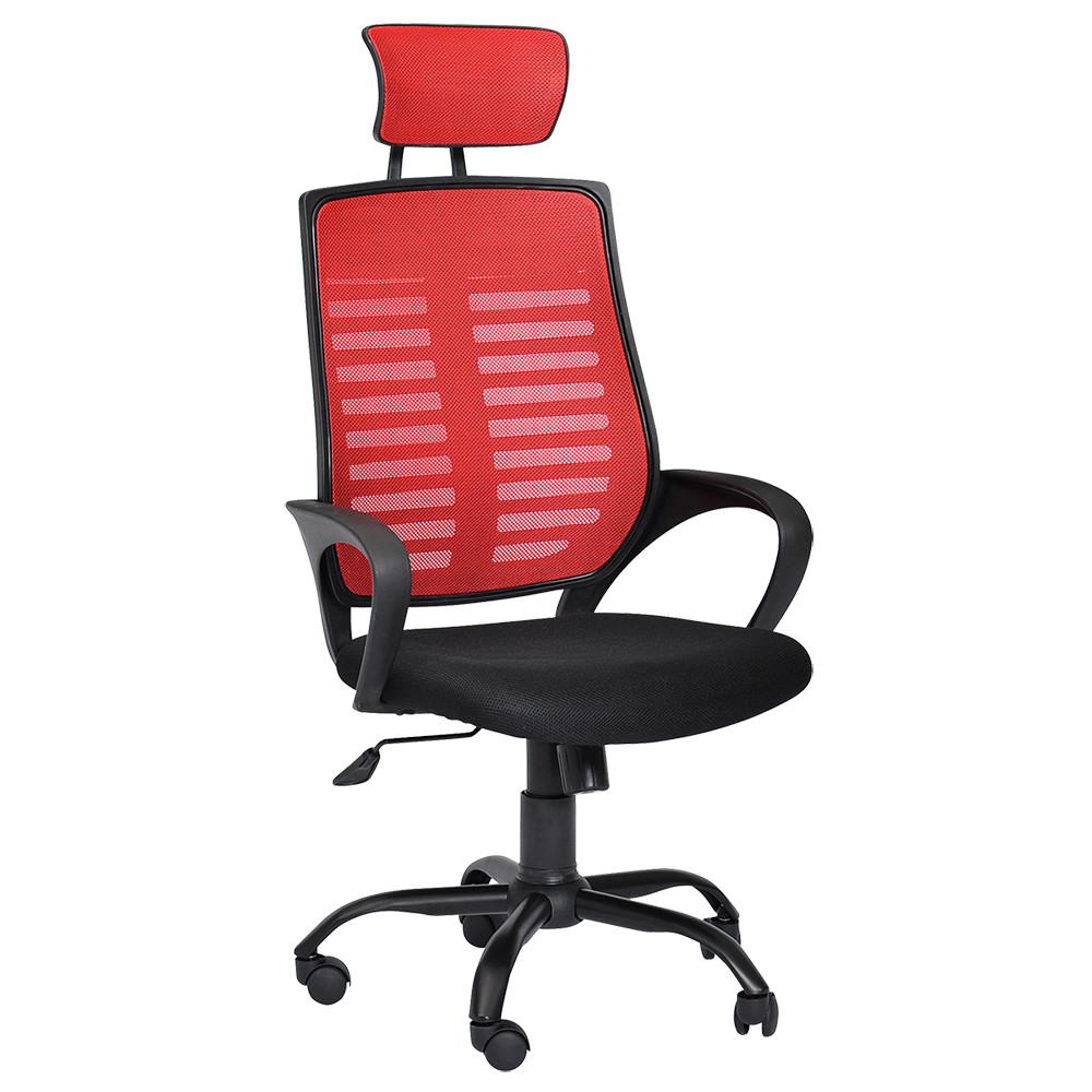 チェッカー W590×D710-1010×H1170-1270mm マネージメントチェア ハイバック ヘッドレスト オフィスチェア 事務椅子 オフィス家具