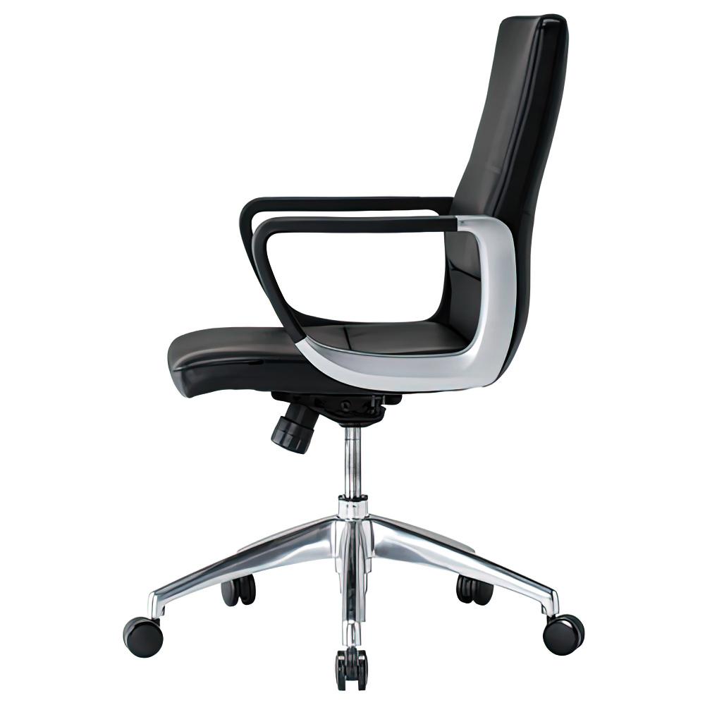 ダジェンダ W600×D675×H930-1020mm マネージメントチェア 社長椅子 ブラック 役員椅子 重役椅子 役員家具 オフィス家具