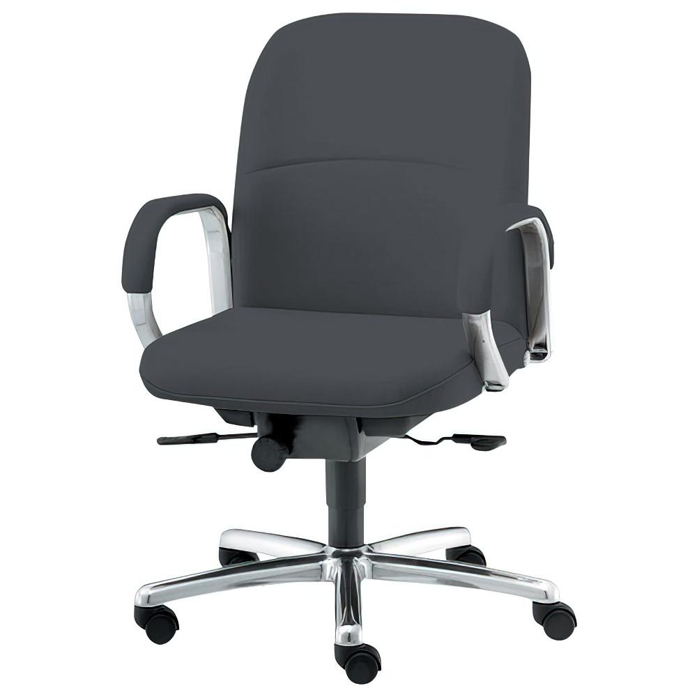 EX-200 ローバックタイプ W650×D615×H890-975mm マネージメントチェア 社長椅子 ブラック 役員椅子 役員家具 内田洋行 オフィス家具