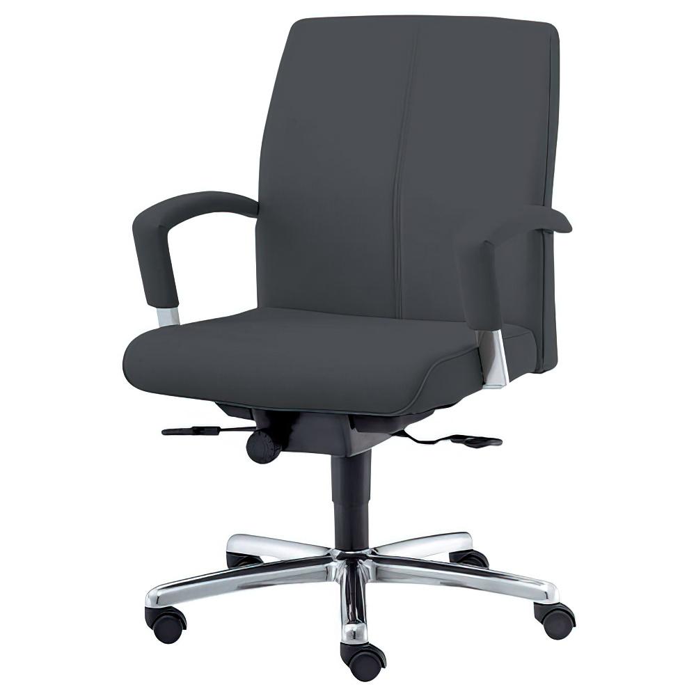 EX-300 ローバックタイプ W650×D640×H915-1000mm マネージメントチェア 社長椅子 ブラック 役員椅子 役員家具 内田洋行 オフィス家具