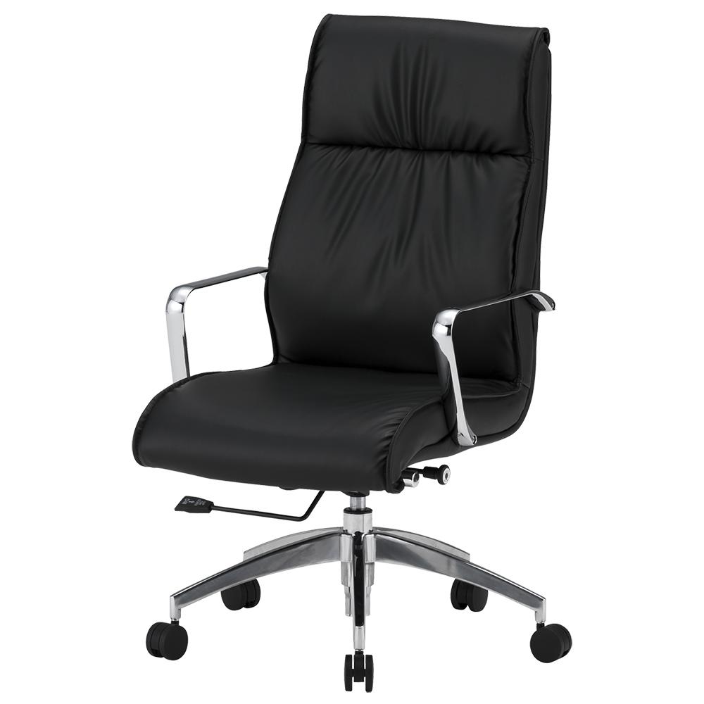オフィス用マネージメントチェアFTX20 W555 D680 H1020-1100  ブラック