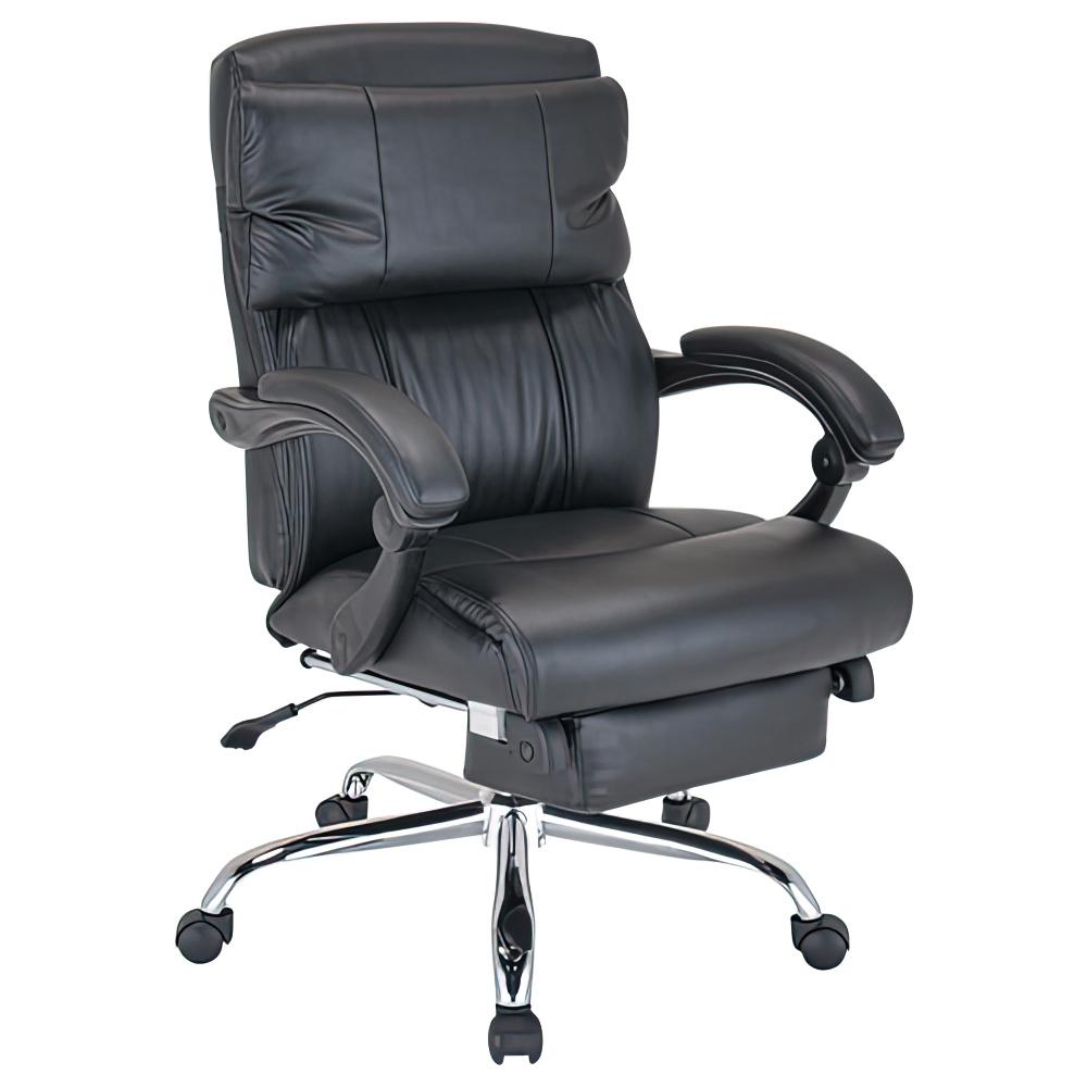リフレチェア W650×D710×H950-1050mm フットレスト内臓リクライニングチェア 社長椅子 役員椅子 重役椅子 オフィス家具
