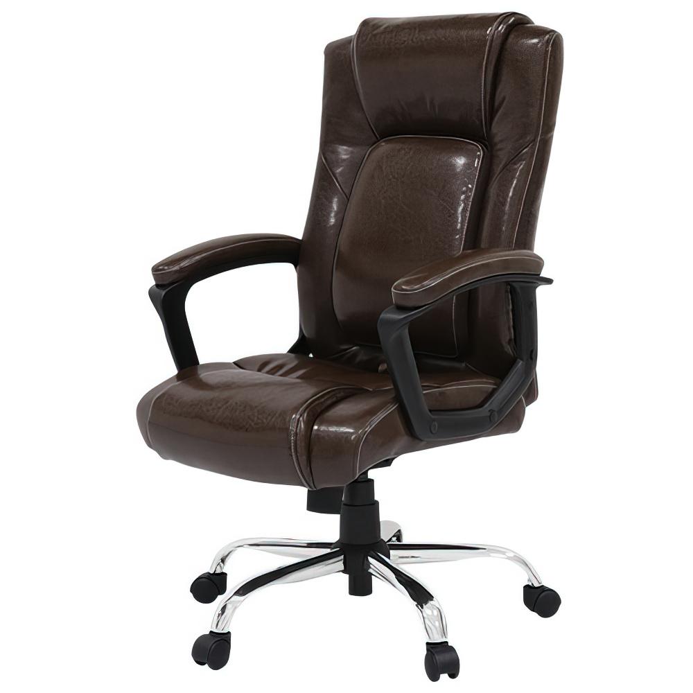 スパイン Spine W620×D640×H1030-1110mm マネージメントチェア オフィスチェア ブラウン 重役椅子 役員椅子  オフィス家具