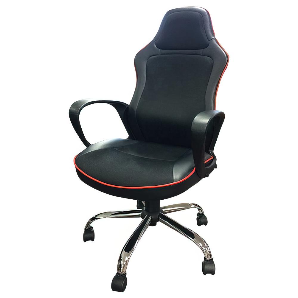 ヴェント Vent W590×D600×H1070-1150mm マネージメントチェア オフィスチェア ブラック×レッド 重役椅子 役員椅子  オフィス家具