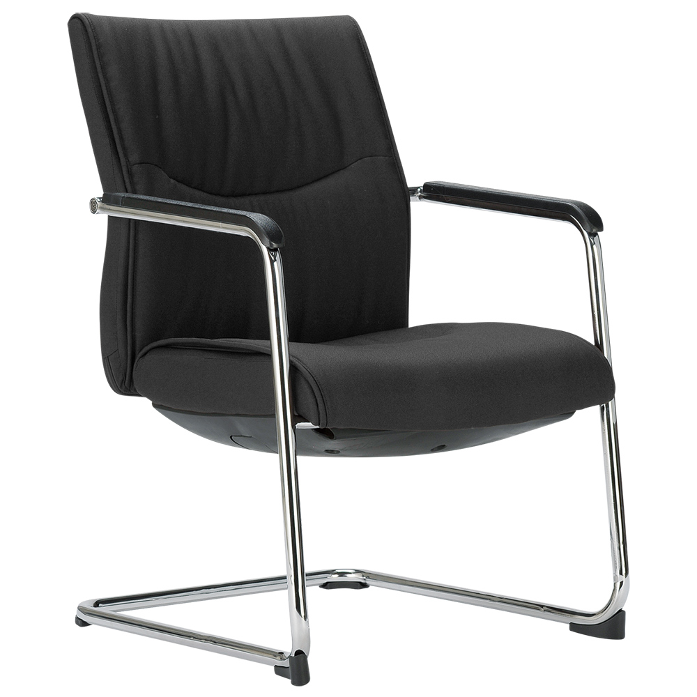 オフィス用カンチレバーチェアMC W620 D630 H915  ブラック