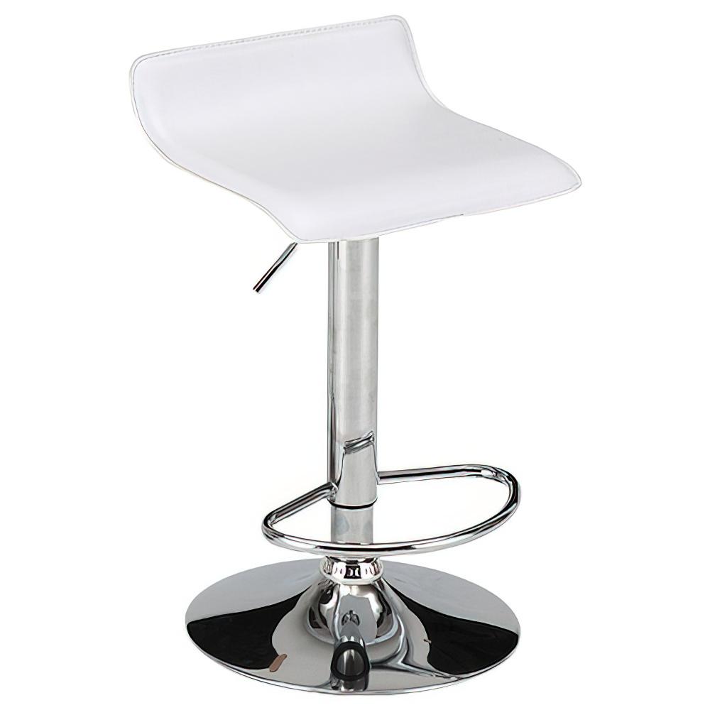 ピアット カウンターチェア W390×D410×H660-870mm ホワイト ハイチェア 椅子 昇降式 ミーティングチェア 店舗  オフィス家具