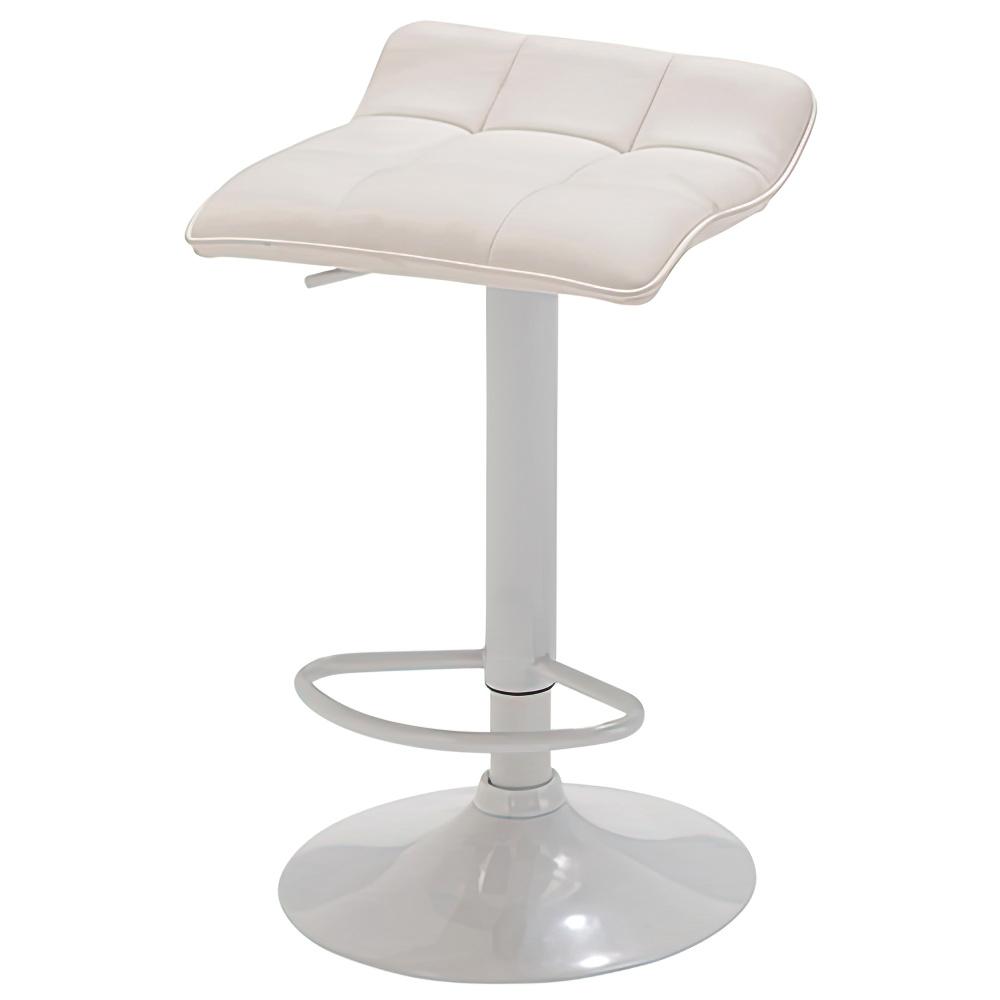 シエロ カウンターチェア W385×D400×H645-855mm ホワイト ハイチェア 椅子 昇降式 ミーティングチェア 店舗  オフィス家具